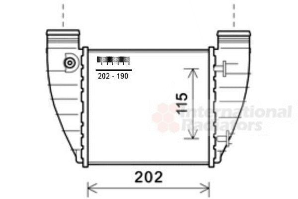 Intercooler, échangeur - VAN WEZEL - 03004345