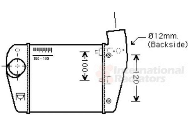 Intercooler, échangeur - VWA - 88VWA03004350