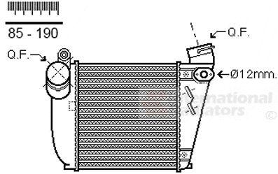 Intercooler, échangeur - VAN WEZEL - 03004354