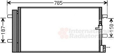Condenseur, climatisation - VAN WEZEL - 03005352