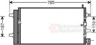 Condenseur, climatisation - VAN WEZEL - 03005353