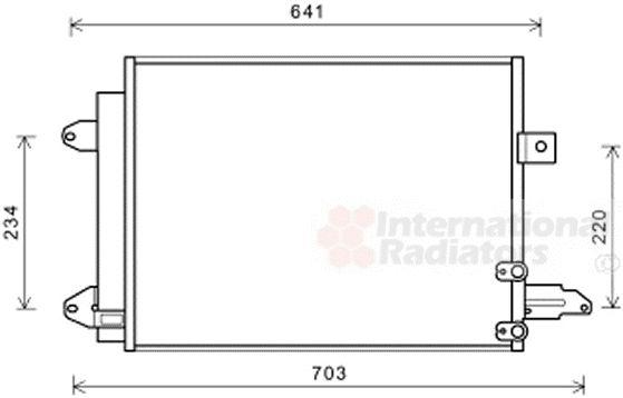 Condenseur, climatisation - VAN WEZEL - 03005367