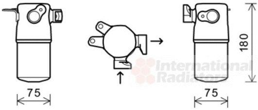 Filtre déshydratant, climatisation - VAN WEZEL - 0300D347