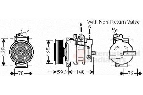 Compresseur, climatisation - VAN WEZEL - 0300K330