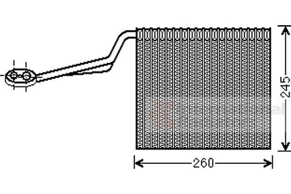 Evaporateur climatisation - VAN WEZEL - 0300V322