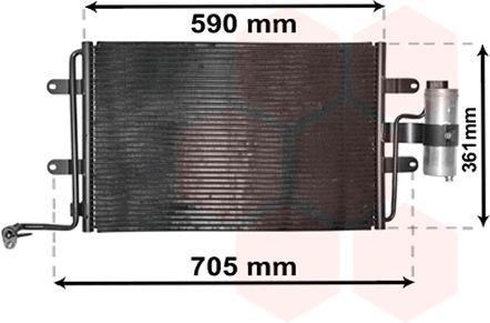 Condenseur, climatisation - VAN WEZEL - 03015130