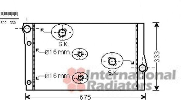 Radiateur, refroidissement du moteur - VWA - 88VWA06002410