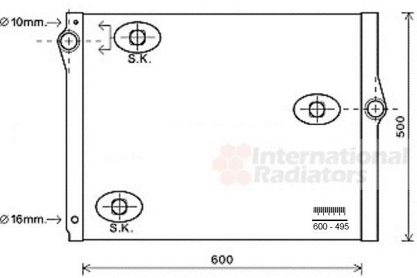 Radiateur, refroidissement du moteur - VAN WEZEL - 06002420