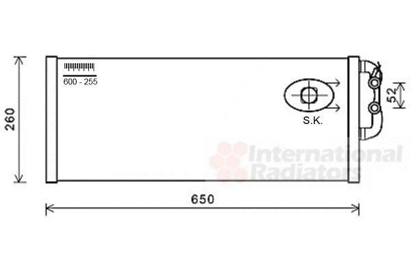 Radiateur, refroidissement du moteur - VAN WEZEL - 06002422