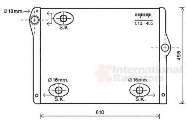 Radiateur, refroidissement du moteur - VAN WEZEL - 06002430