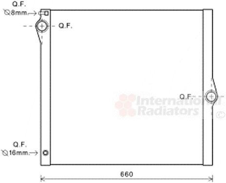 Radiateur, refroidissement du moteur - VAN WEZEL - 06002436