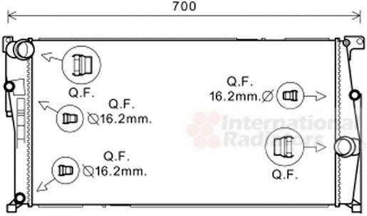 Radiateur, refroidissement du moteur - VAN WEZEL - 06002456