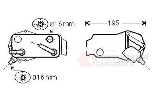 Radiateur d'huile - VWA - 88VWA06003351