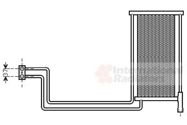 Radiateur d'huile - VAN WEZEL - 06003368