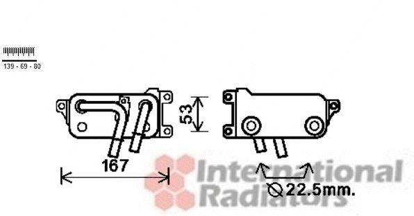 Radiateur d'huile de boîte automatique - VAN WEZEL - 06003401