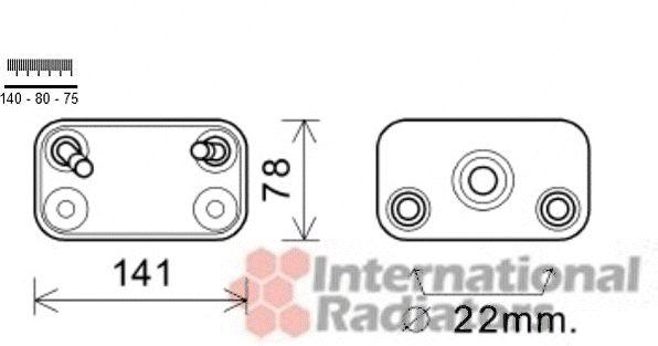 Radiateur d'huile - VAN WEZEL - 06003406