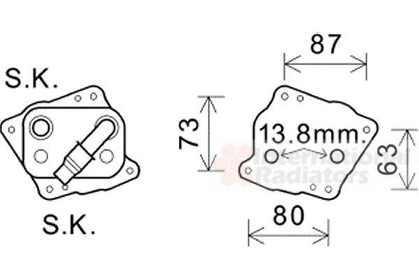 Radiateur d'huile - VAN WEZEL - 06003412