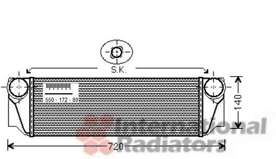 Intercooler, échangeur - VAN WEZEL - 06004413