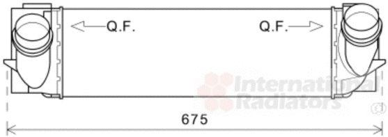 Intercooler, échangeur - VAN WEZEL - 06004457
