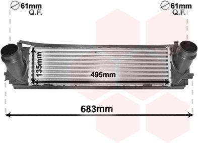 Intercooler, échangeur - VWA - 88VWA06004466