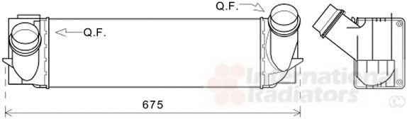 Intercooler, échangeur - VWA - 88VWA06004494
