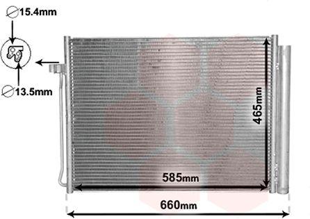 Condenseur, climatisation - VAN WEZEL - 06005377