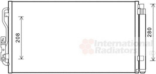 Condenseur, climatisation - VAN WEZEL - 06005434