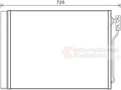 Condenseur, climatisation - VAN WEZEL - 06005435