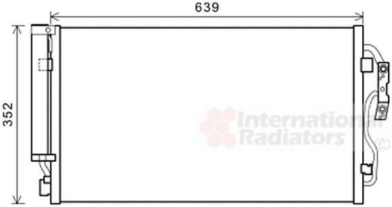 Condenseur, climatisation - VAN WEZEL - 06005477
