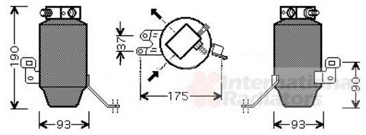 Filtre déshydratant, climatisation - VAN WEZEL - 0600D299