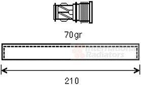 Filtre déshydratant, climatisation - VAN WEZEL - 0600D439