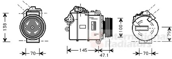 Compresseur, climatisation - VAN WEZEL - 0600K306