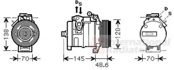 Compresseur, climatisation - VAN WEZEL - 0600K345