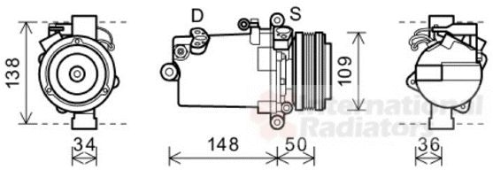 Compresseur, climatisation - VWA - 88VWA0600K408