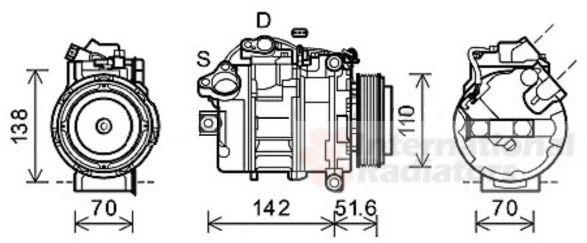 Compresseur, climatisation - VWA - 88VWA0600K427