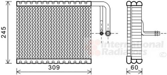 Evaporateur climatisation - VAN WEZEL - 0600V440