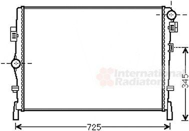 Radiateur, refroidissement du moteur - VAN WEZEL - 07002105