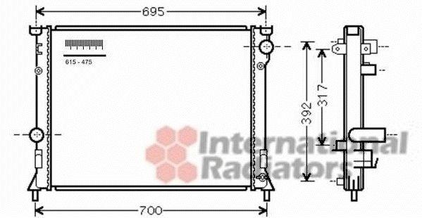 Radiateur, refroidissement du moteur - VAN WEZEL - 07002116