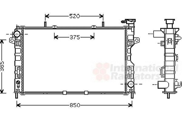 Radiateur, refroidissement du moteur - VAN WEZEL - 07002117
