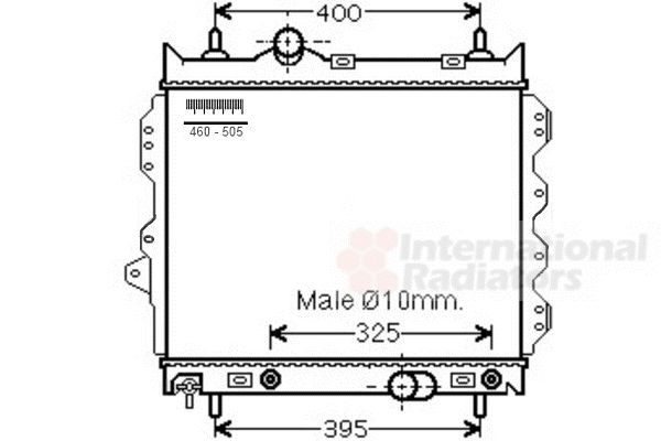 Radiateur, refroidissement du moteur - VAN WEZEL - 07002119