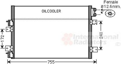 Condenseur, climatisation - VAN WEZEL - 07005113