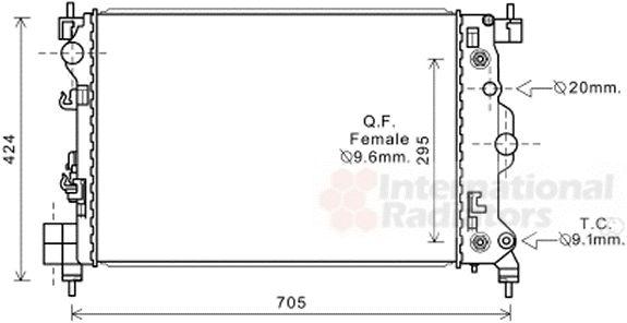 Radiateur, refroidissement du moteur - VAN WEZEL - 08002044