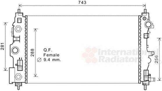 Radiateur, refroidissement du moteur - VAN WEZEL - 08002046