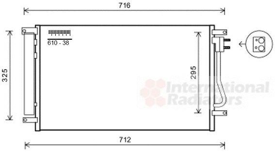 Condenseur, climatisation - VAN WEZEL - 08005038