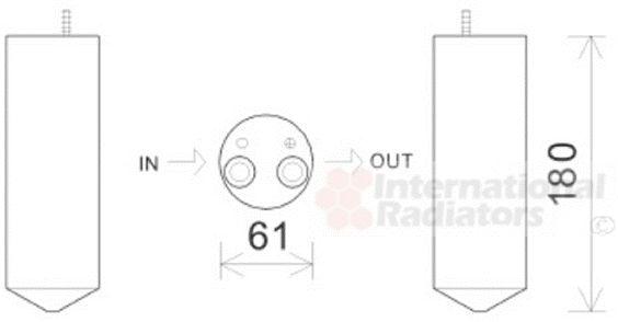 Filtre déshydratant, climatisation - VAN WEZEL - 0800D050