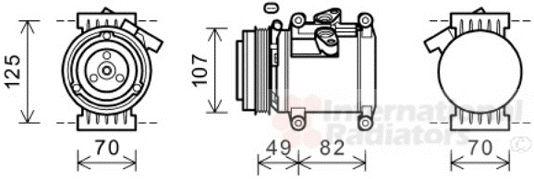 Compresseur, climatisation - VAN WEZEL - 0800K039