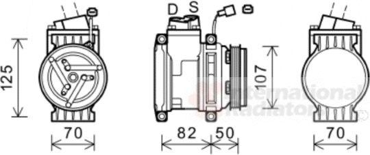 Compresseur, climatisation - VAN WEZEL - 0800K041