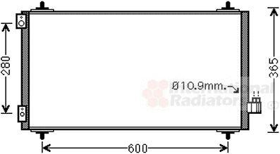 Condenseur, climatisation - VAN WEZEL - 09005271