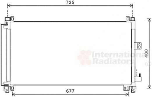 Condenseur, climatisation - VAN WEZEL - 09005273