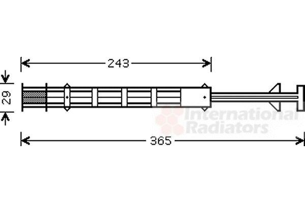 Filtre déshydratant, climatisation - VAN WEZEL - 0900D247